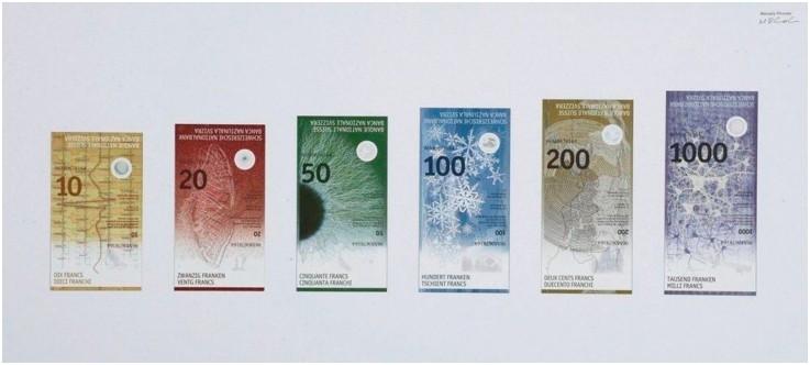 ธนบัตรสวิสฟรังค์ในรูปแบบใหม่ จะเริ่มใช้ในเดือนเมษายน ปี 2016 นี้
