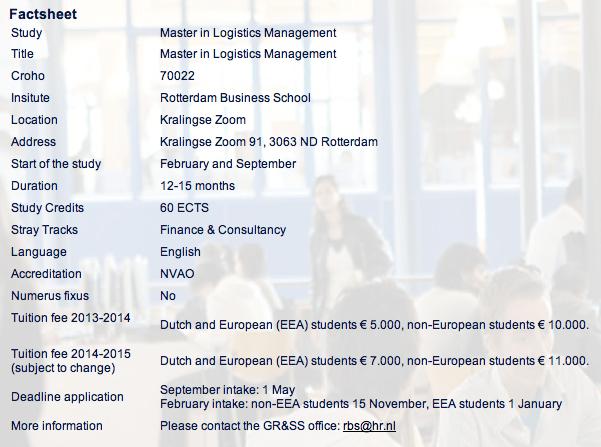 เรียนโลจิสติกที่เนเธอร์แลนด์ กับหลักสูตร Master in Logistics Management Programme