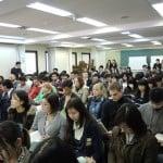 น้องเต้ และ น้องนัท วันปฐมนิเทศวันแรกของการเรียนหลักสูตรภาษาญี่ปุ่นที่ Sendagaya, Tokyo