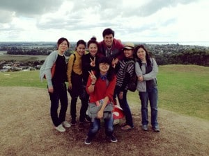 Nong Thip with Her Friends in NZ