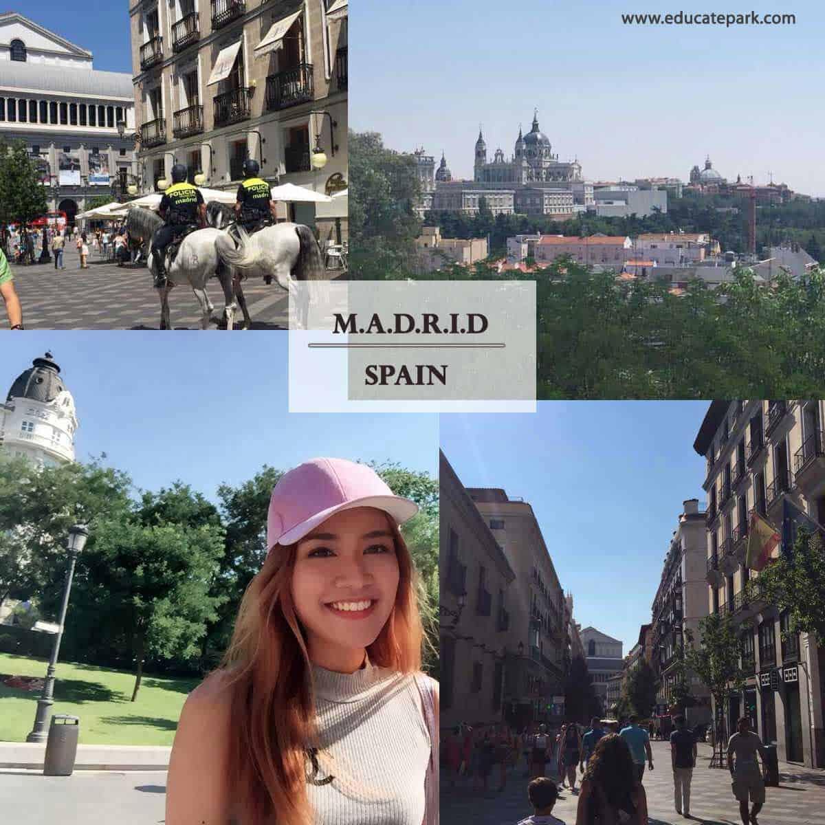 น้องอีฟ เรียนภาษาสเปนที่กรุงมาดริด