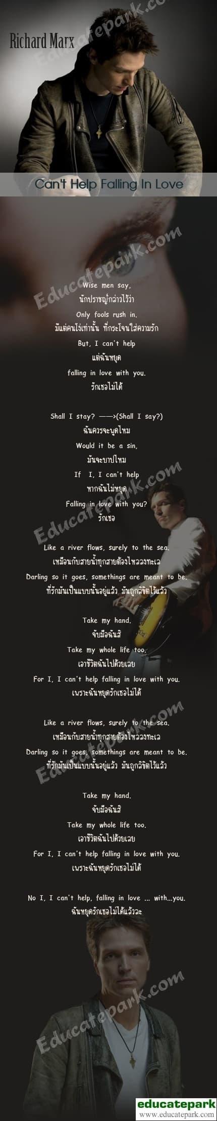 แปลเพลง Can't Help Falling in Love - Richard Marx