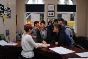 CES Dublin - reception area