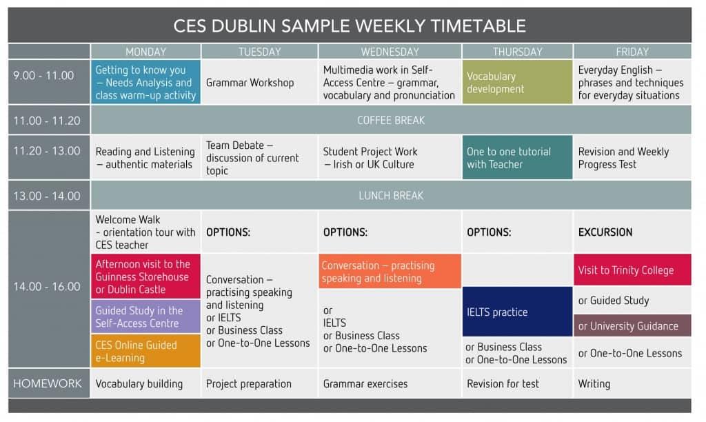 CES-timetable