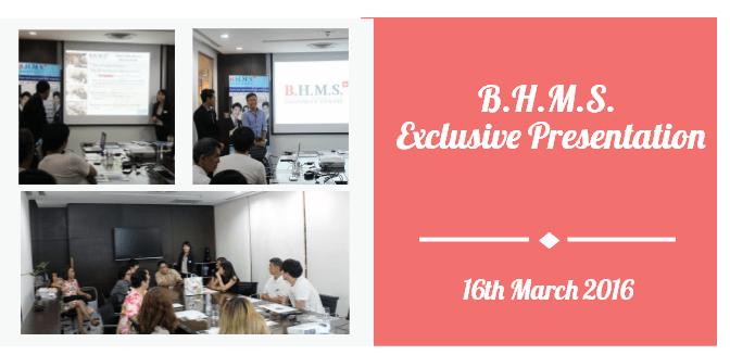 BHMS Exclusive Presentation @Exchange Tower