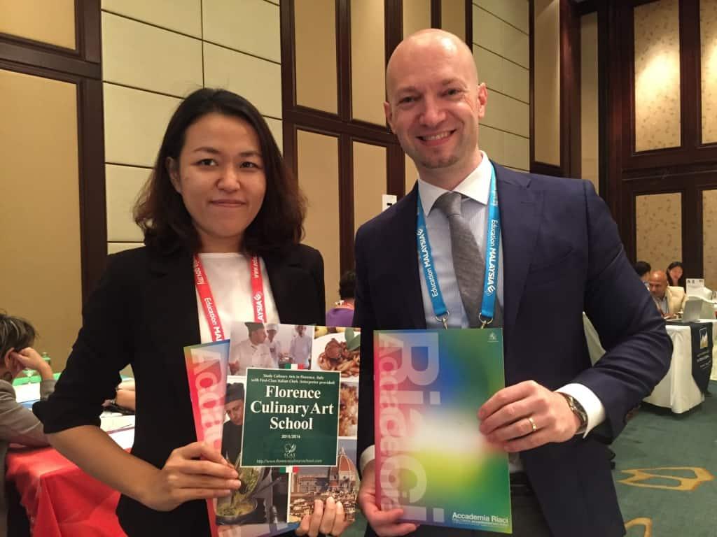 Meeting with Accademia Riaci at ICEF, Bangkok