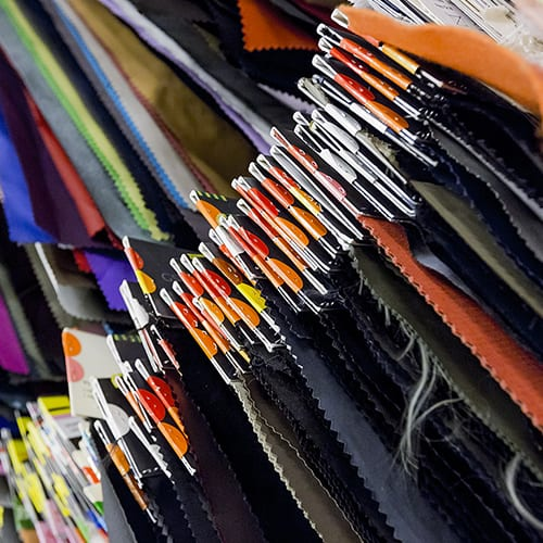 Fabrics in Milan