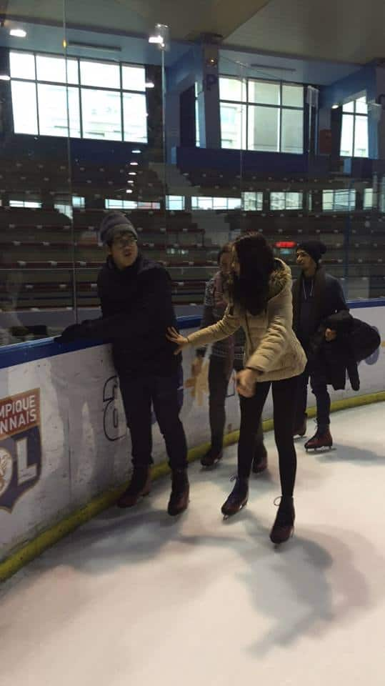 N'Katie & N'Bank – Inflexyon students – were enjoyed ice skating
