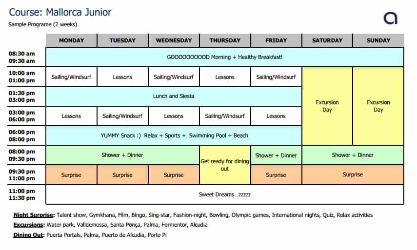 Malloca Junior Schedule