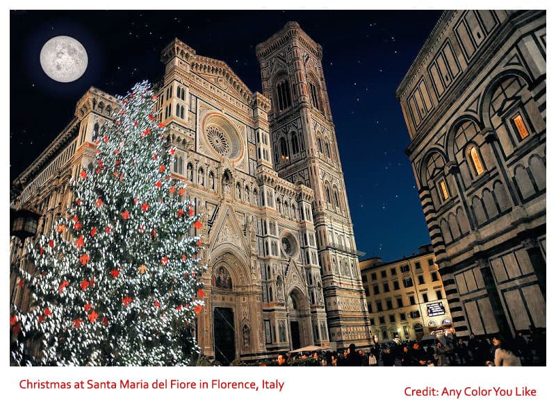 Christmas at Santa Maria del Fiore in Florence, Italy