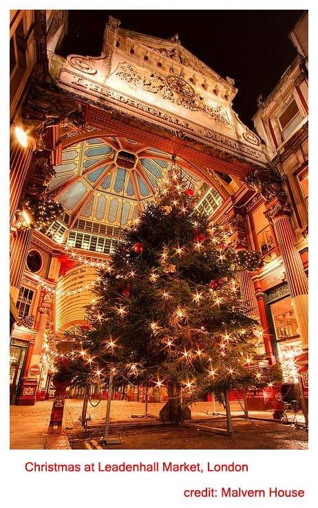 Christmas at Leadenhall Market, London UK