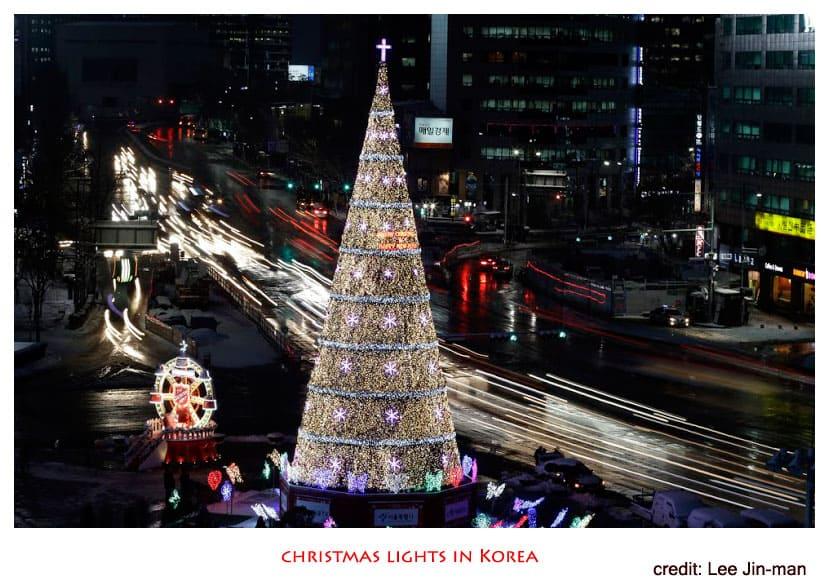 แสงสีวันคริสต์มาสที่เกาหลี