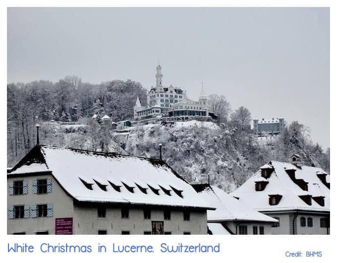 White Christmas in Lucerne, Switzerland โดย BHMS