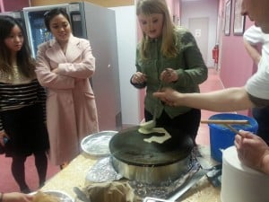 N'Jane, Pancake Workshop at French in Normandy