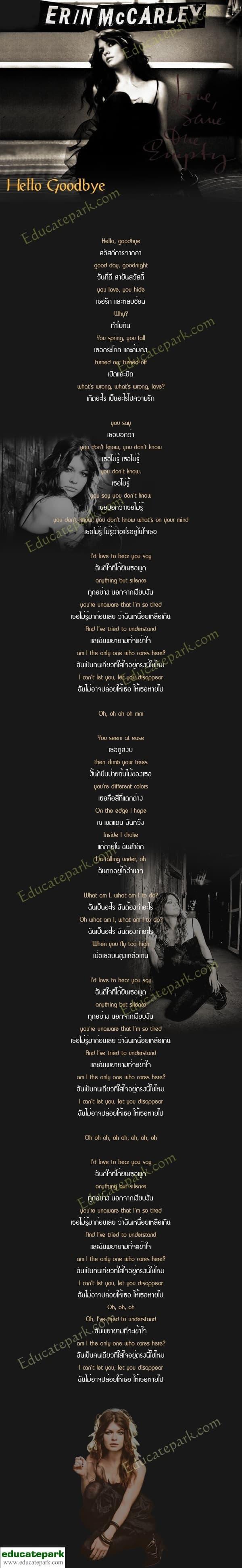 แปลเพลง Hello Goodbye - Erin McCarlery