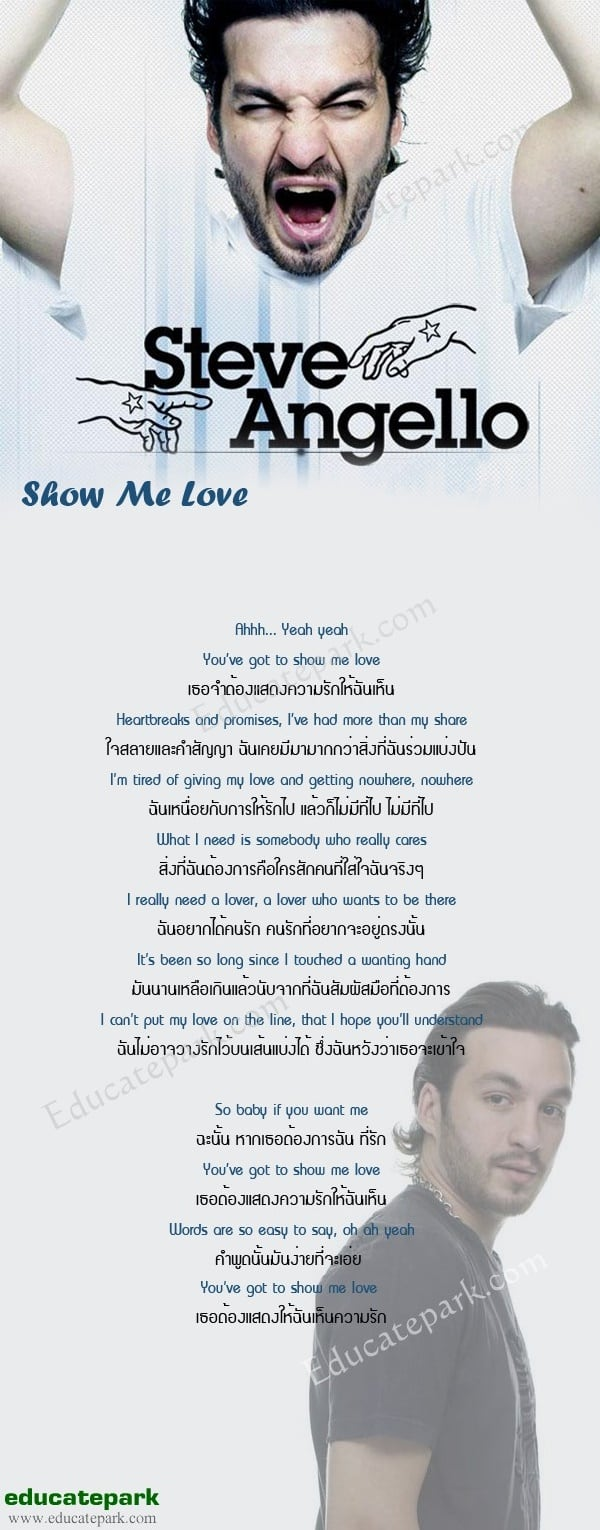 แปลเพลง Show me love - Steve Angello