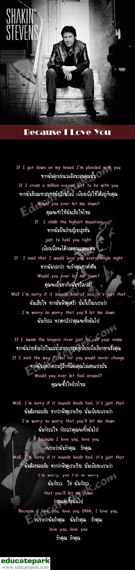 แปลเพลง Because I Love You - Shakin' Stevens