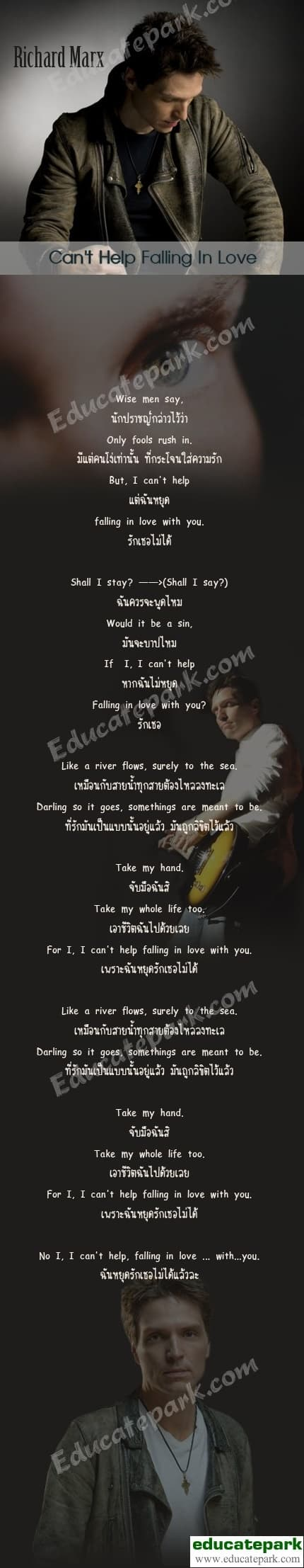 แปลเพลง Can't Help Falling in Love - Richard Marx