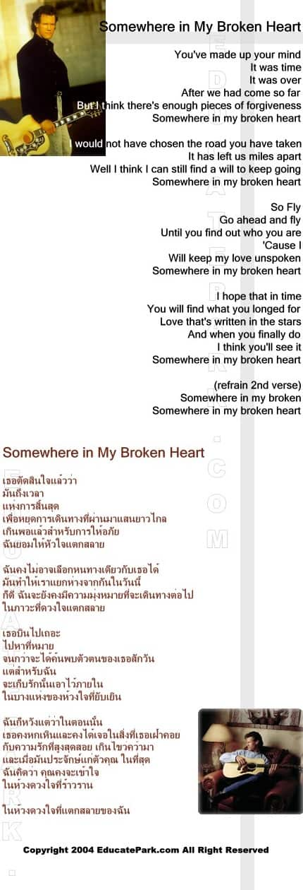 แปลเพลง Somewhere in My Broken Heart - Randy Travis