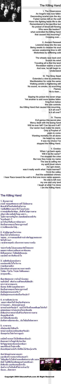 แปลเพลง The killing hand - Dream Theater