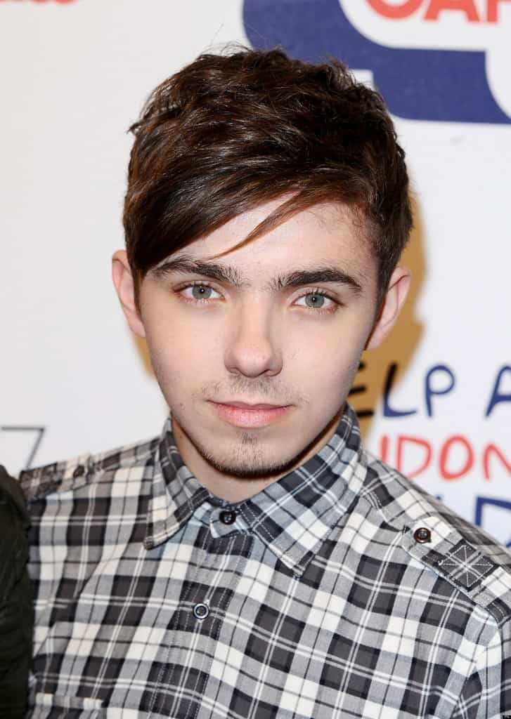 Nathan Sykes from The Wanted arriving for Capital FM's Jingle Bell Ball at the O2 Arena, London.