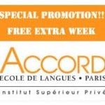โปรโมชั่น เรียนภาษาฝรั่งเศสที่ปารีส กับ ACCORD Language Schools