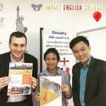 เจ้าหน้าที่จากทาง Impact English College เข้ามาเยี่ยมที่ Educatepark Office