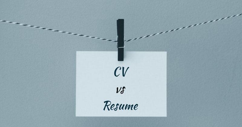ความแตกต่างระหว่าง CV และ Resume