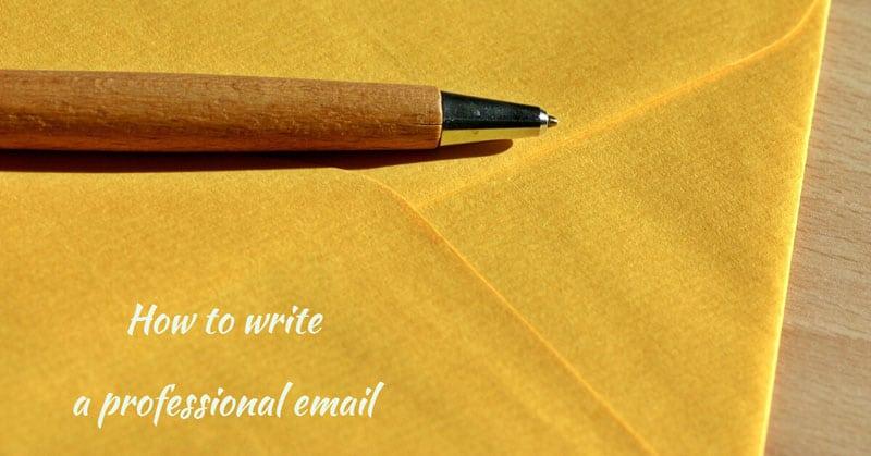 วิธีการเขียนอีเมลภาษาอังกฤษ