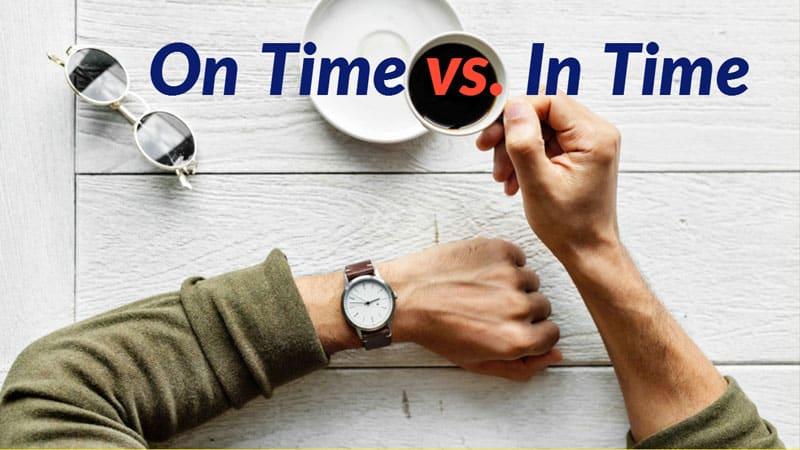 การใช้ On Time กับ In Time