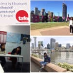 น้องแป๋วและน้องติ๊ เรียนภาษาอังกฤษที่ TAFE Brisbane