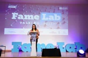 ดร. จุฬารัตน์ในงาน FameLab Thailand Competition 2019