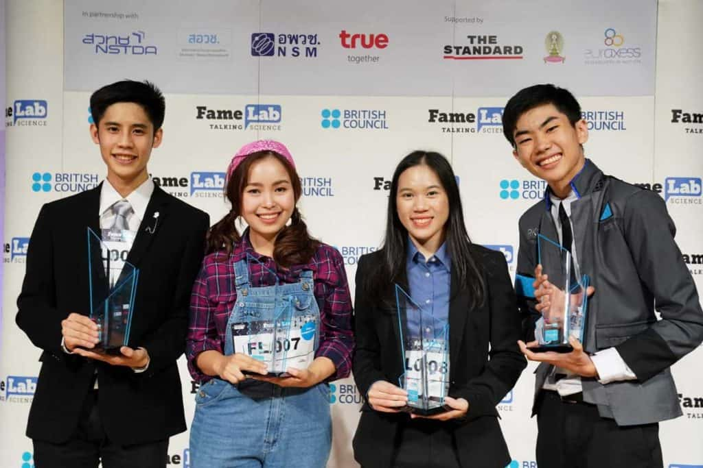 ข่าวการศึกษา ผู้ชนะเลิศ FameLab Thailand Competition 2019