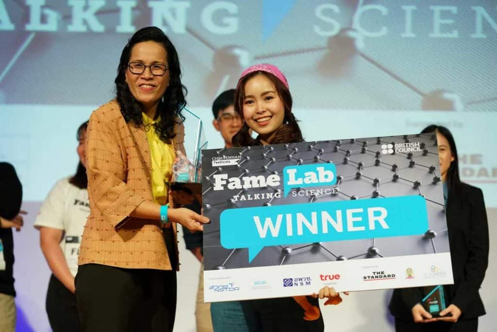 ข่าวการศึกษา ผู้ชนะการประกวด FameLab Thailand Competition 2019